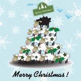 śmieszny Bożego Narodzenia drzewo Obrazy Royalty Free