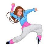 Śmieszny breakdancer ilustracja wektor