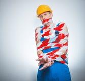 Śmieszny budowniczy - ręczny pracownik Obraz Stock