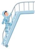 Śmieszny chłopiec kosmonauta, astronauta lub ilustracji