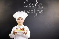 Śmieszny chłopiec szef kuchni Zdjęcie Stock