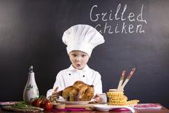 Śmieszny chłopiec szef kuchni Obraz Royalty Free