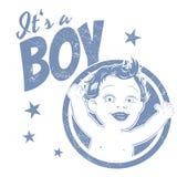 Śmieszny chłopiec znak Fotografia Royalty Free