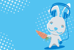 śmieszny charakteru królik Zdjęcie Royalty Free