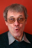 śmieszny człowiek twarz zdjęcia stock