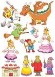 Śmieszny czarodziejka set. royalty ilustracja