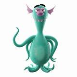 Śmieszny 3D potwór, śmieszny dodatek dla stron internetowych, reklamuje royalty ilustracja