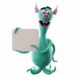 Śmieszny 3D potwór, śmieszny dodatek dla stron internetowych, reklamuje ilustracja wektor