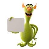 Śmieszny 3D potwór, śmieszny dodatek dla stron internetowych, reklamuje ilustracji