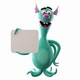Śmieszny 3D potwór, wesoło dodatek dla stron internetowych, reklamuje royalty ilustracja