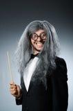 Śmieszny dyrygent z długim zdjęcia royalty free