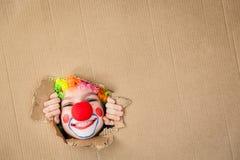 Śmieszny dzieciaka błazenu bawić się salowy Obraz Royalty Free