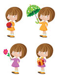 Śmieszny dziewczyna set Obraz Stock