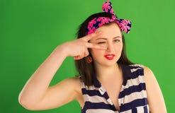 śmieszny dziewczyny śmieszna szpilka Obrazy Royalty Free