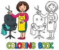 Śmieszny fryzjer książkowa kolorowa kolorystyki grafiki ilustracja ilustracji