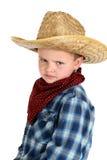 Śmieszny glraing młody kowbojski wearning kapelusz i bandany Obraz Stock