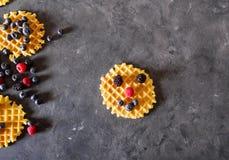 Śmieszny gofr belgijskich gofrów zdjęcie stock