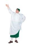 Śmieszny gruby mężczyzna jest ubranym Niemiecki Bawarskiego odziewa obrazy royalty free