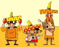 śmieszny grupowy meksykański wystrzał Obrazy Royalty Free