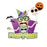 Śmieszny Halloween partyjny mężczyzna Fotografia Royalty Free