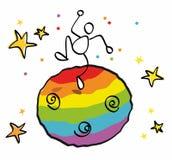 śmieszny homoseksualny świat ilustracji