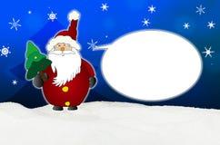 Śmieszny i śmiający się Święty Mikołaj komiczki balon royalty ilustracja