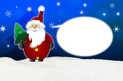 Śmieszny i życzliwy Święty Mikołaj komiczki balon ilustracja wektor