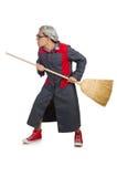 Śmieszny janitor odizolowywający Obrazy Stock