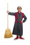 Śmieszny janitor odizolowywający Zdjęcie Royalty Free