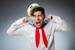 Śmieszny kapitanu żeglarz Obrazy Royalty Free