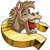 Śmieszny koń w podkowie Zdjęcie Stock