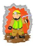 Śmieszny kopalniany pracownik ilustracja wektor