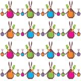Śmieszny królik na fabrycznej teksturze royalty ilustracja
