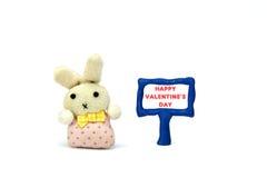 Śmieszny królik szczęśliwe dni valentines Zdjęcia Royalty Free