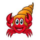 Śmieszny kreskówka eremita krab royalty ilustracja