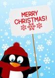 śmieszny kreskówka pingwin ilustracji