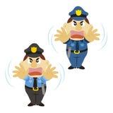 Śmieszny kreskówka policjant, dwa koloru ilustracji