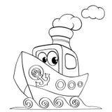 Śmieszny kreskówka statek ilustracji