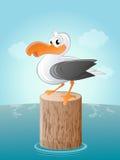 Śmieszny kreskówki seagull ilustracja wektor