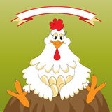 Śmieszny kurczak ilustracji