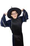Śmieszny mądry czarownik odizolowywający Zdjęcie Stock