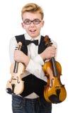 Śmieszny mężczyzna z skrzypce Obrazy Royalty Free