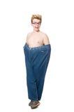 Śmieszny mężczyzna z spodniami Zdjęcie Stock