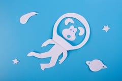 śmieszny małpi kosmonauta obraz royalty free