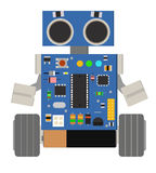 Śmieszny mały robot Zdjęcia Stock