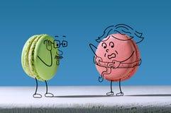 Śmieszny macaron mierzy talia rozmiar ilustracji