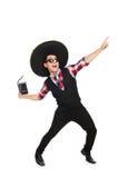 Śmieszny meksykanin z sombrero obraz royalty free