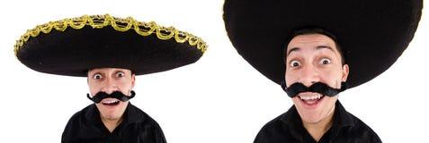 Śmieszny meksykanin z sombrero kapeluszem fotografia royalty free