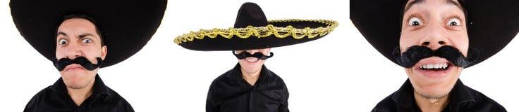 Śmieszny meksykanin z sombrero kapeluszem obrazy stock