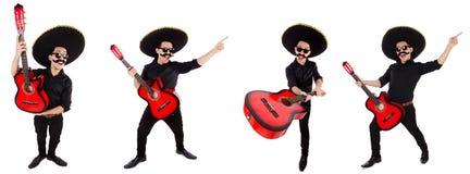 Śmieszny meksykanin z sombrero kapeluszem zdjęcie stock